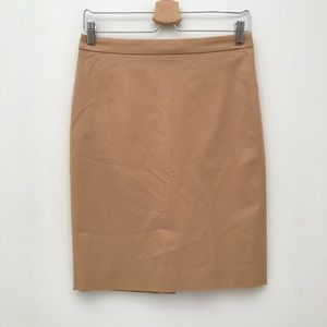 J. Crew No. 2 Pencil Skirt in Tan EUC 2